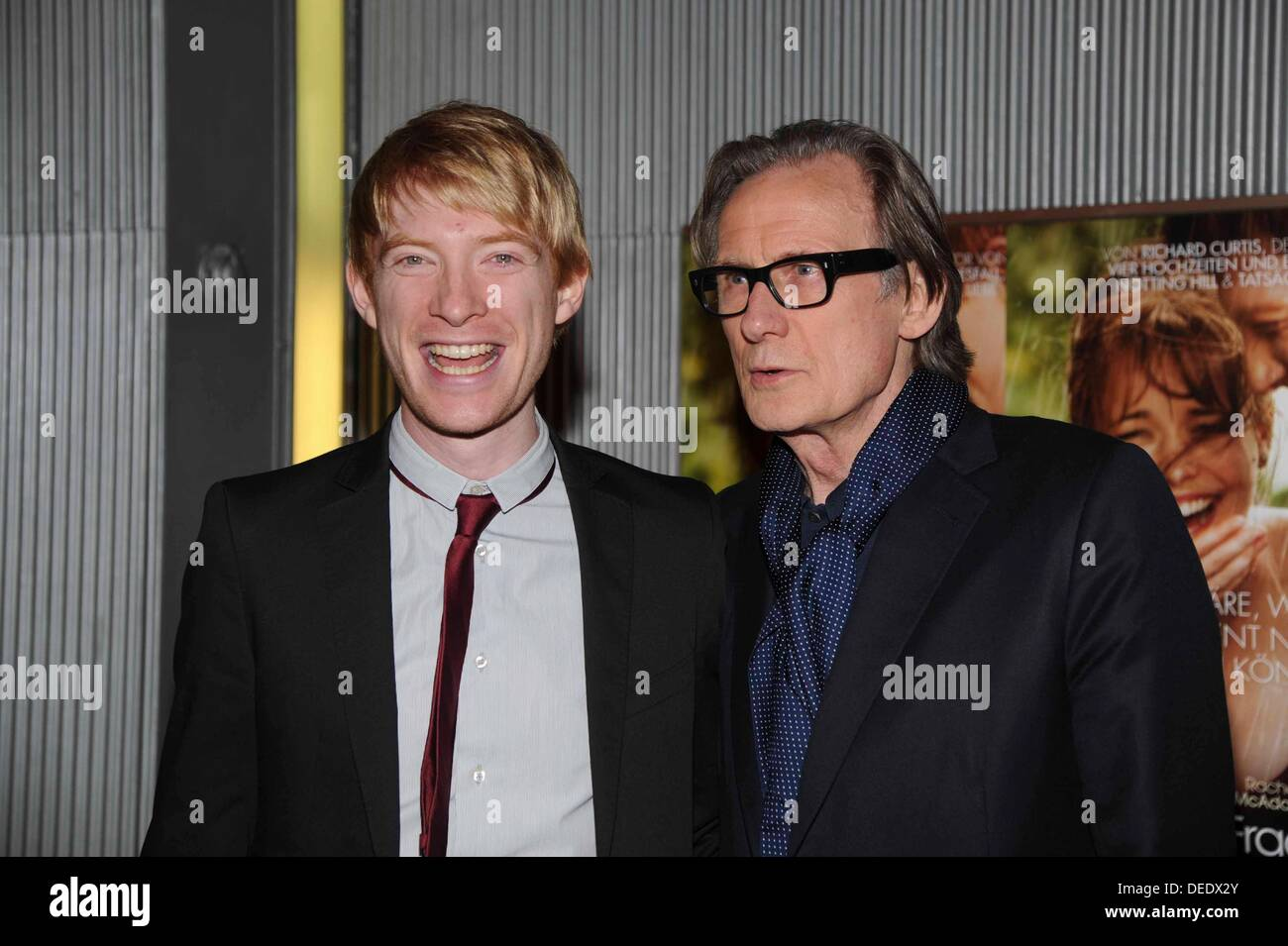Berlin, Germany. 16th Sep, 2013. Domhnall Gleeson and Bill Nighy during the photo call for the premiere of the movie - all a question of time - at Astor Film Lounge in Berlin./picture alliance © dpa picture alliance/Alamy Live News - Stock Image