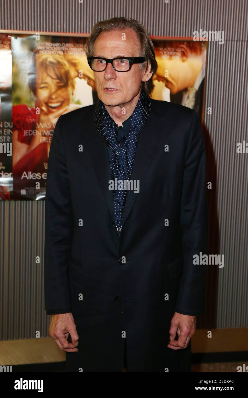 Berlin, Germany. 16th Sep, 2013. Bill Nighy during the photo call for the premiere of the movie - all a question of time - at Astor Film Lounge in Berlin./picture alliance © dpa picture alliance/Alamy Live News - Stock Image