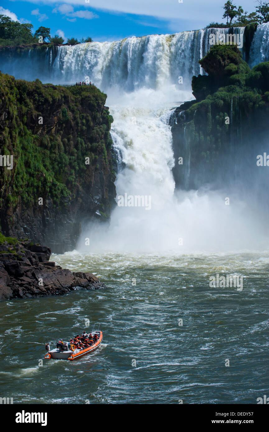 Foz de Iguazu (Iguacu Falls), Iguazu National Park, UNESCO World Heritage Site, Argentina, South America - Stock Image