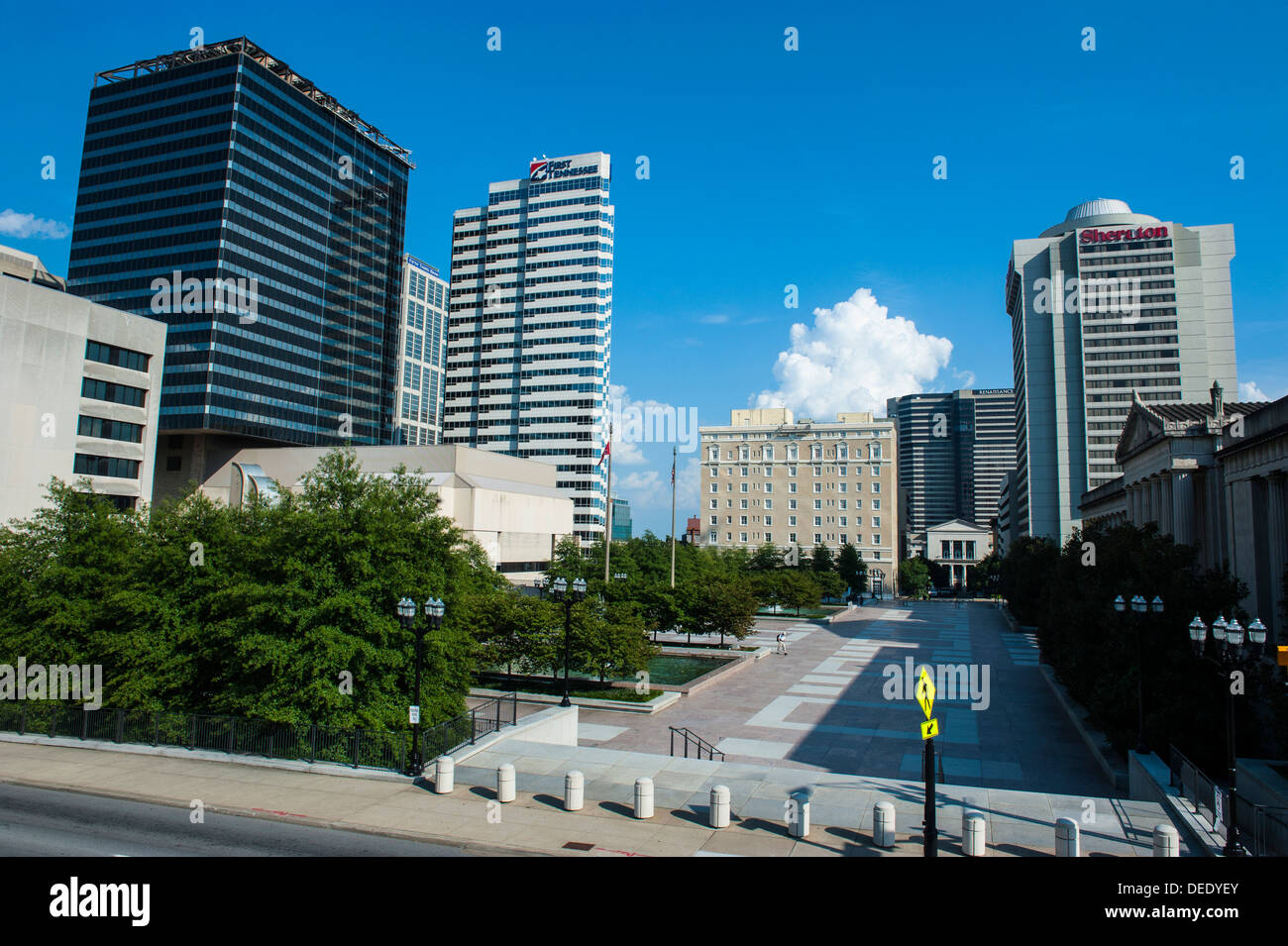 Business district of Nashville, Tennessee, United States of America, North America - Stock Image