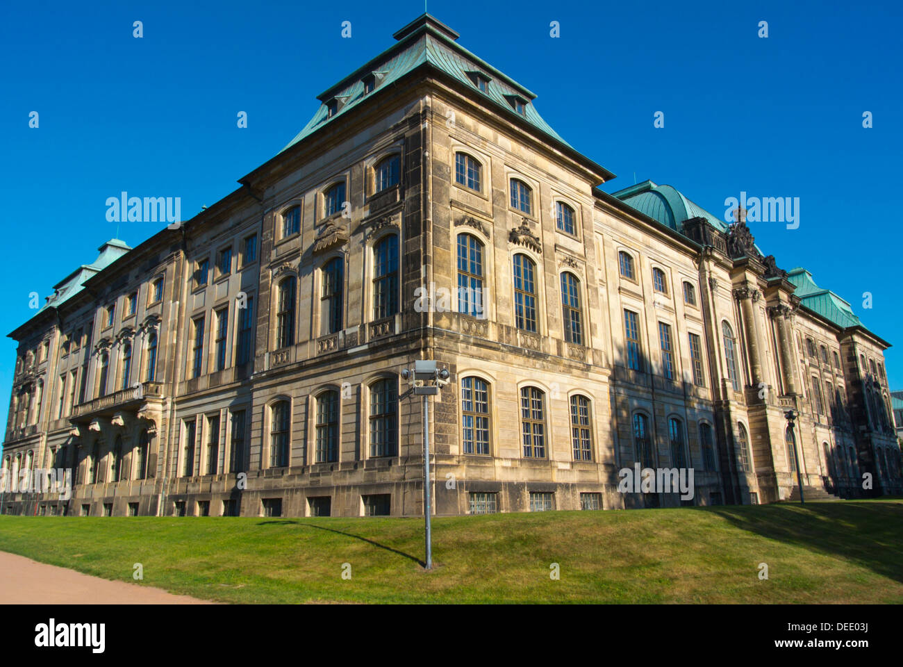 Japanisches Palais the Japanese Palace housing Ethnology museum Neustadt the new town Dresden Germany central Europe - Stock Image