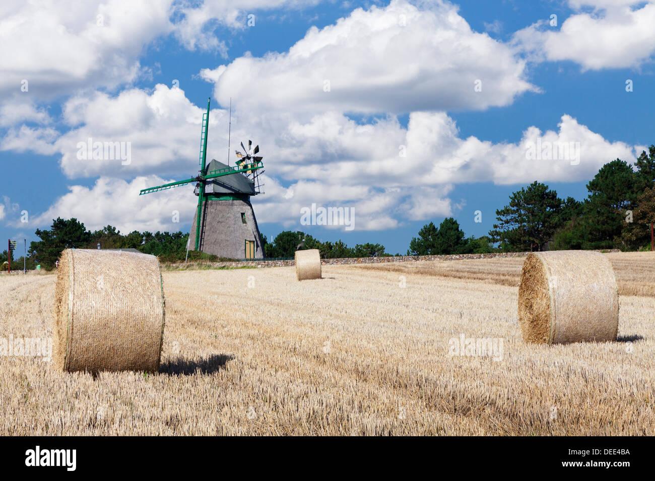 Old Dutch windmill, Nebel, Amrum, North Frisian Islands, Schleswig Holstein, Germany, Europe - Stock Image