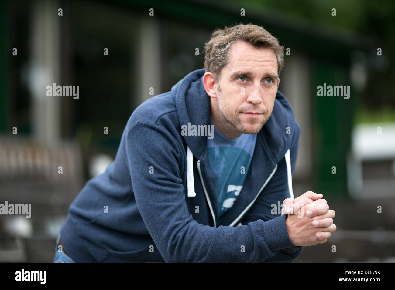 Stephen Parry , the former Olympic swimmer and current businessman and broadcaster pictured at Stand Cricket Club, Stock Photo