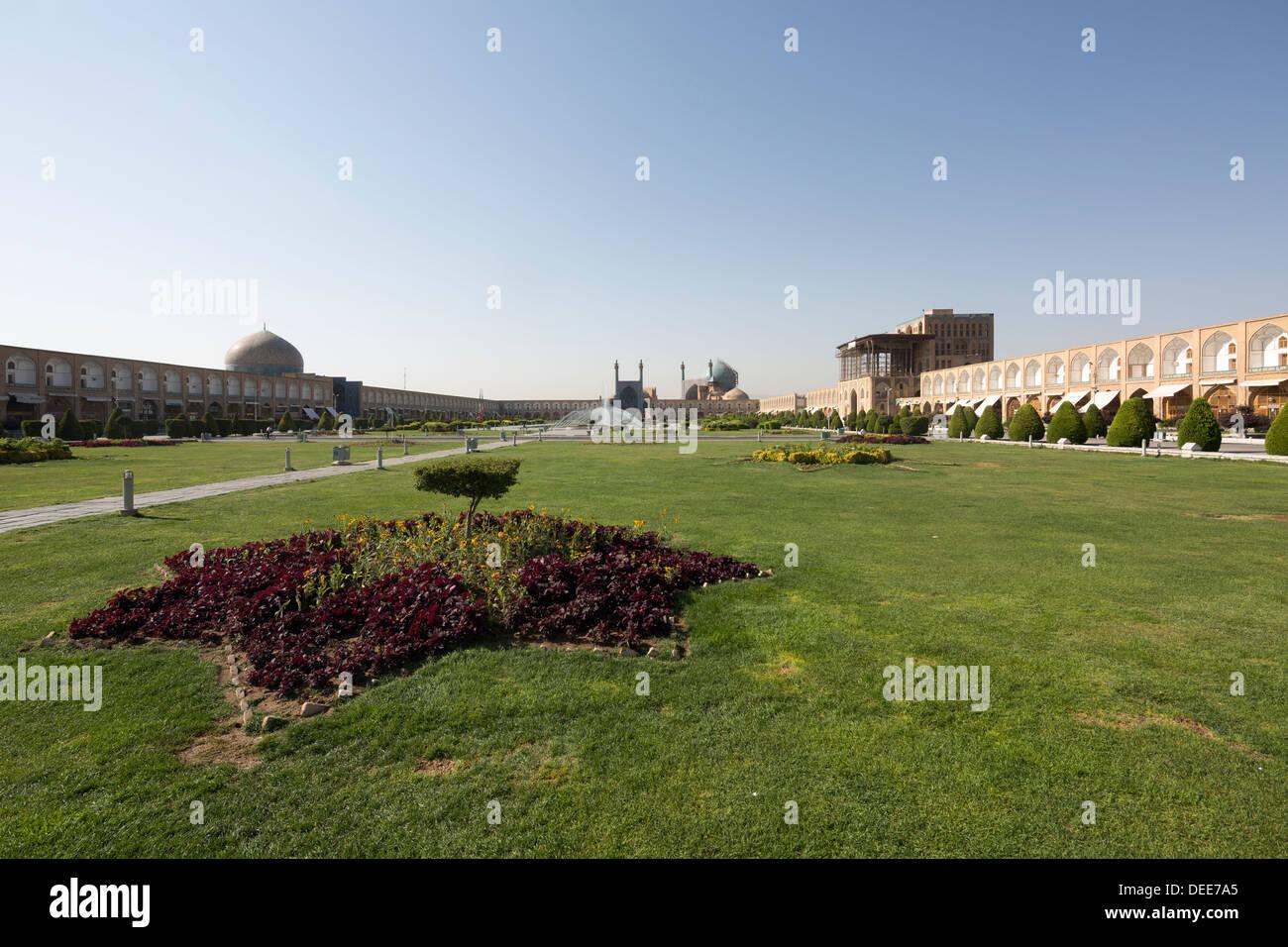 Naqsh-e Jahan, or Imam, or Shah Square, Isfahan, Iran - Stock Image