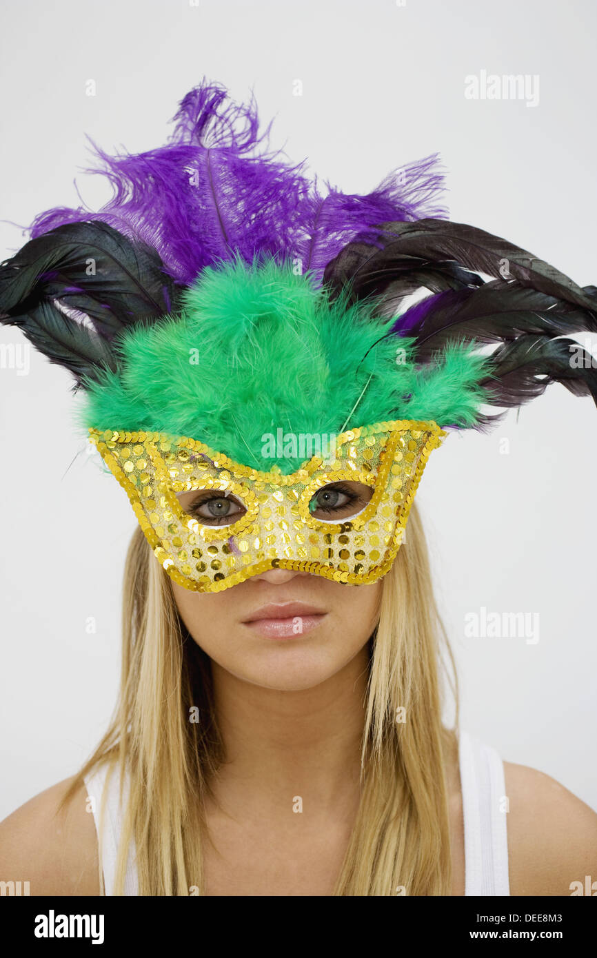 Woman in mask. - Stock Image