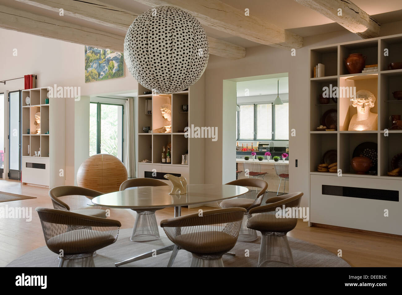 Dining Room In The Home Of Bruno And Dominique Lafourcade In ...