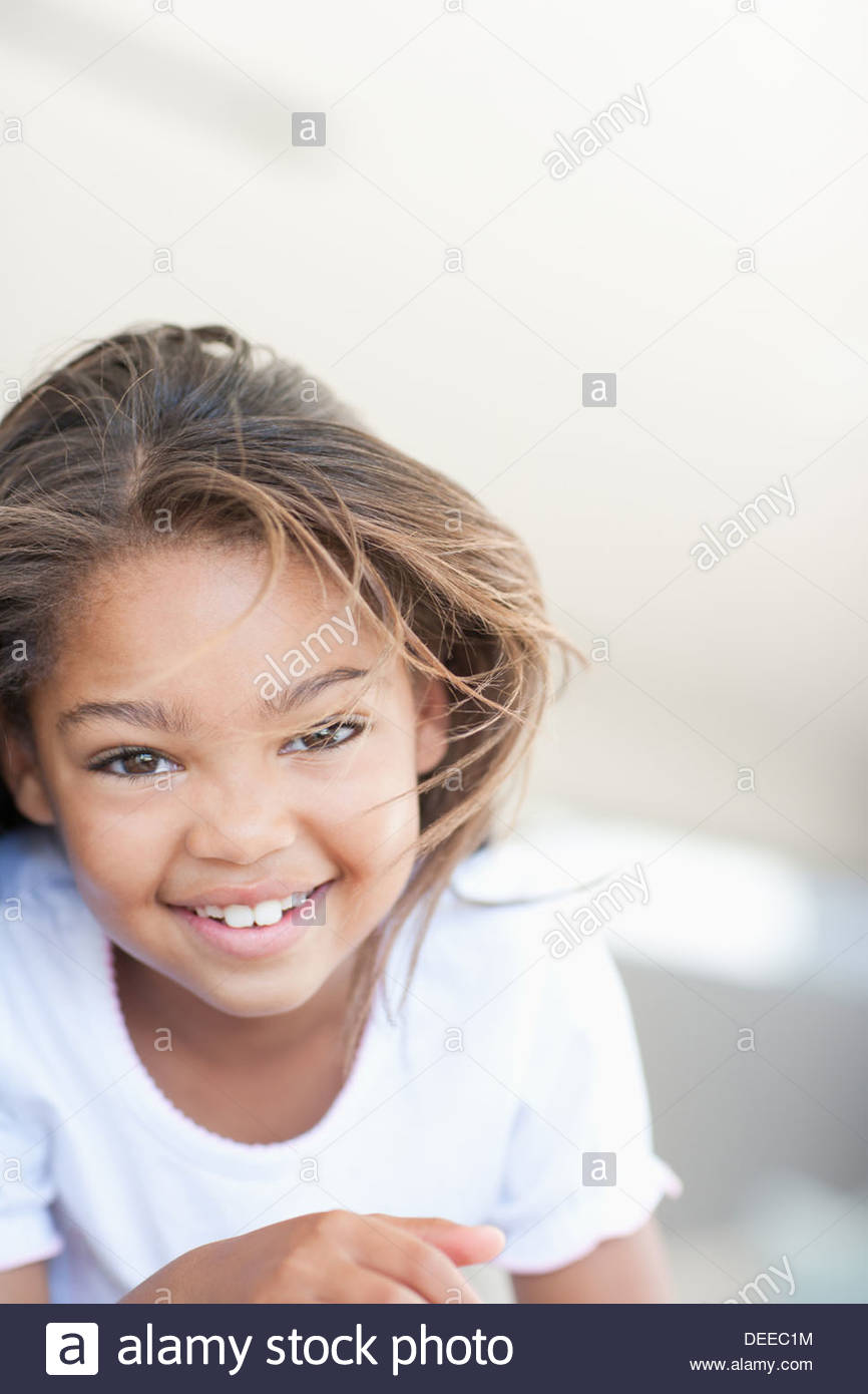 African girl smiling - Stock Image