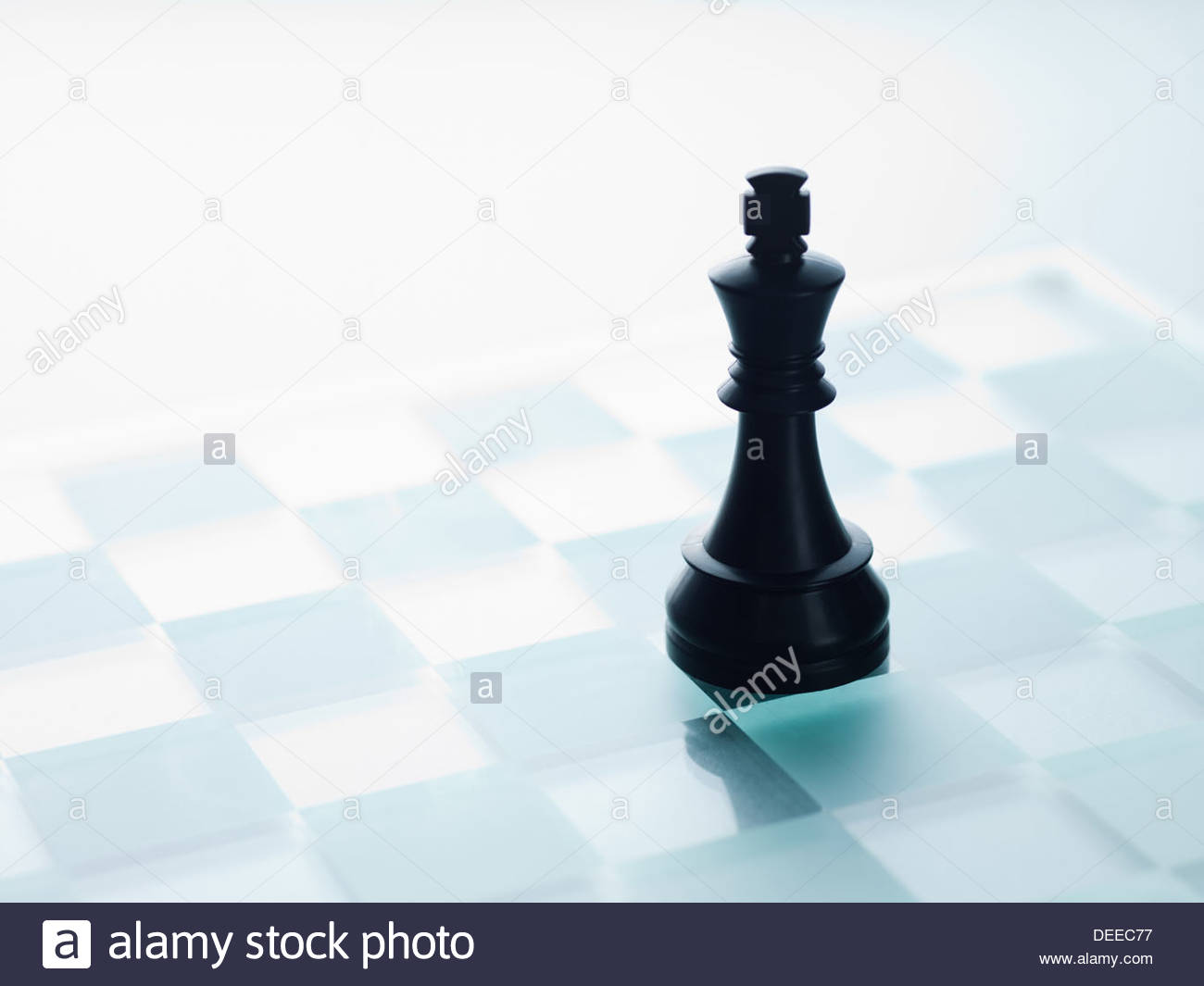Black chess piece - Stock Image