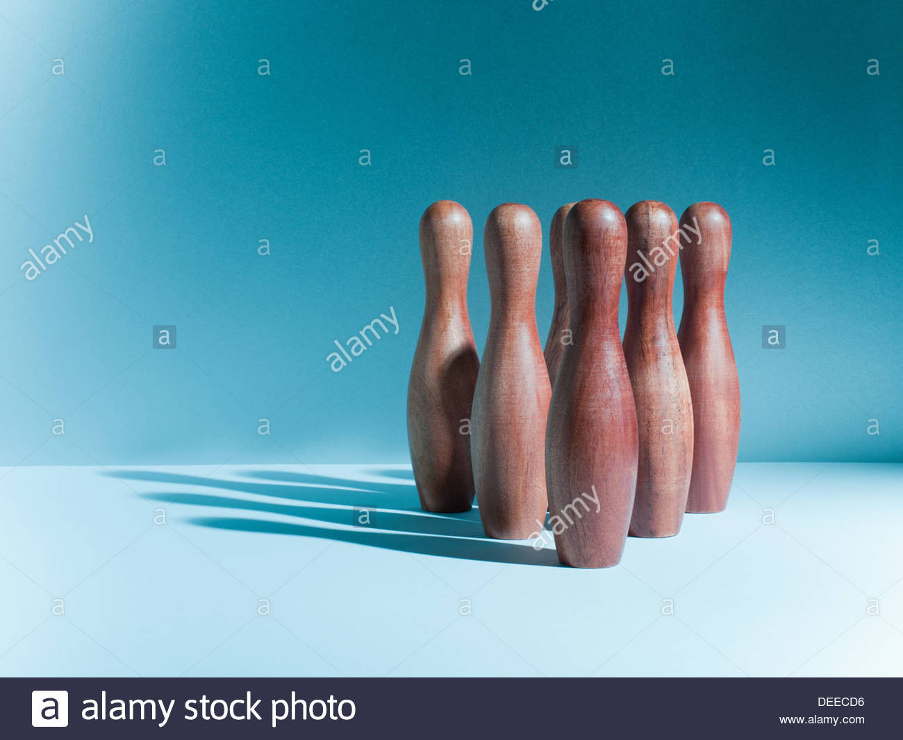Bowling and skittles - Stock Image