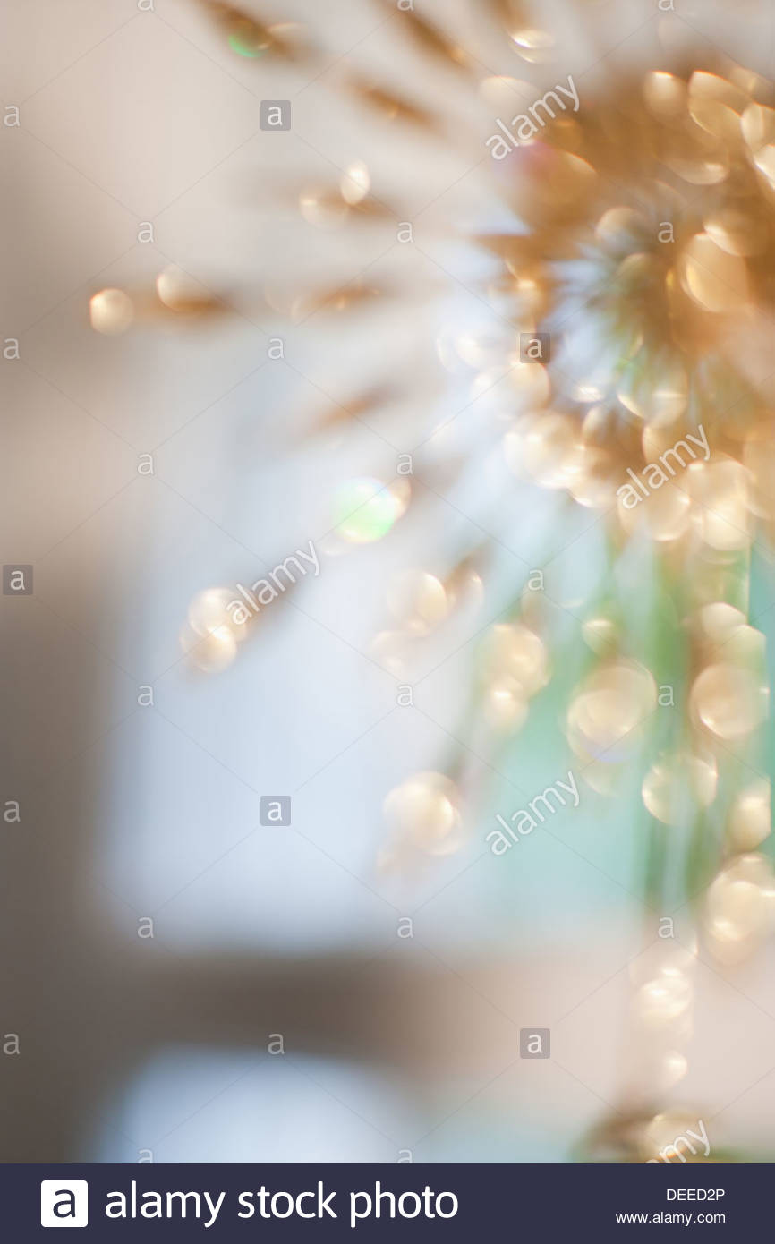 Defocused gold decoration - Stock Image