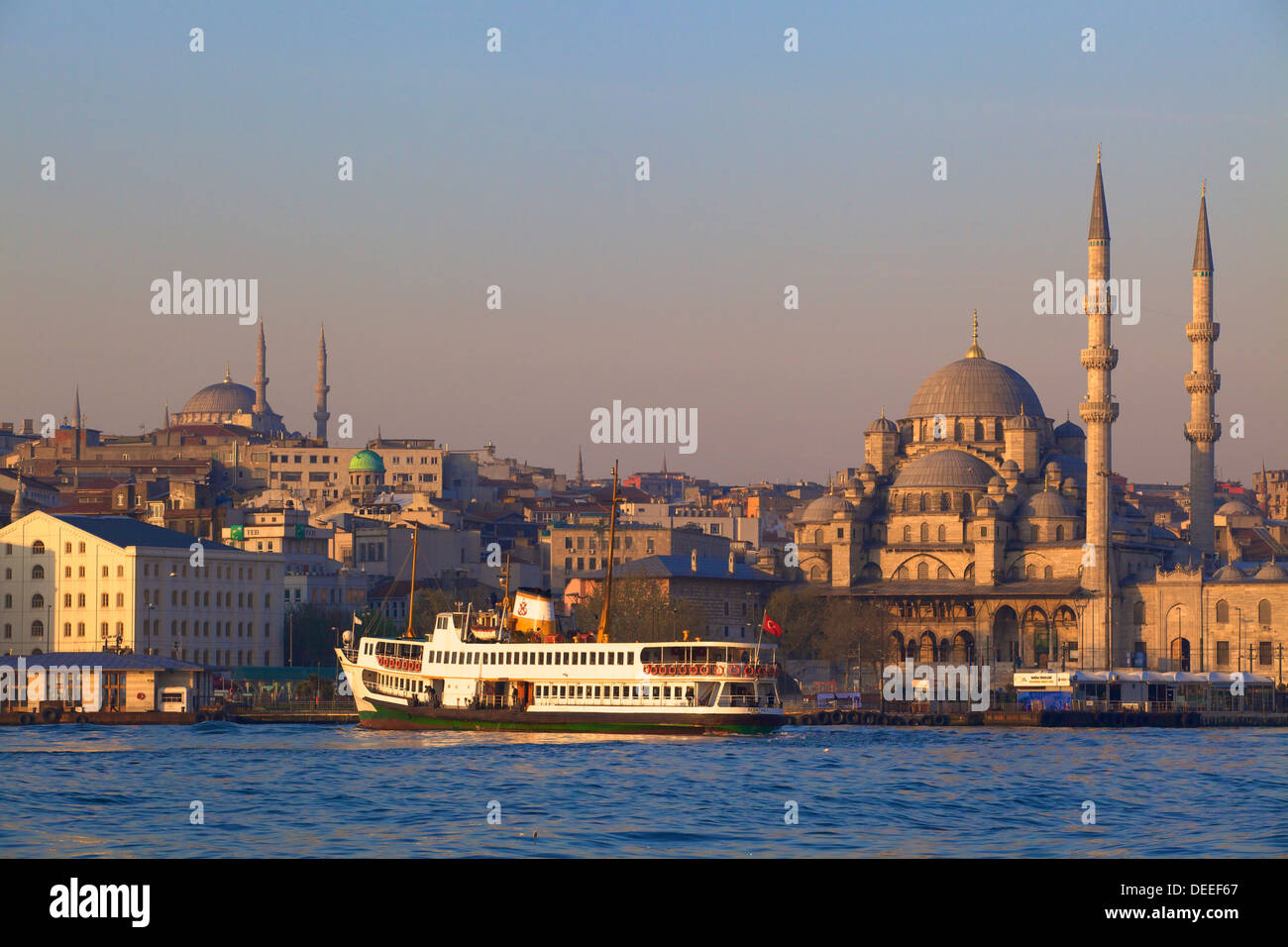 New Mosque, Golden Horn, Istanbul, Turkey, Europe - Stock Image
