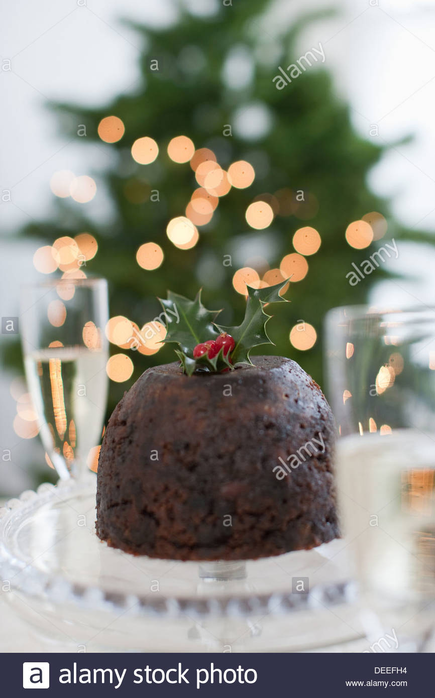 Christmas pudding - Stock Image