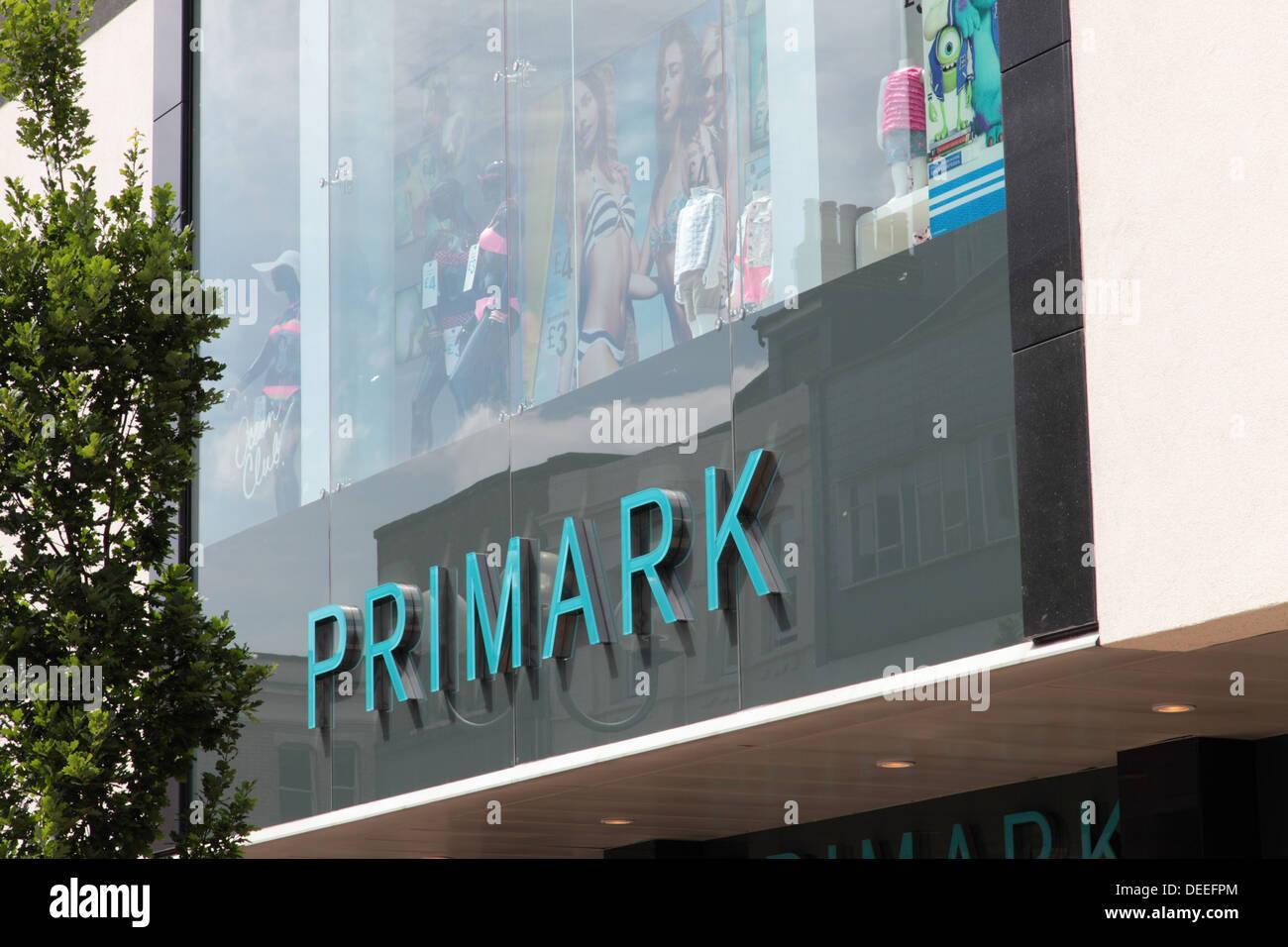 Primark signage - Stock Image