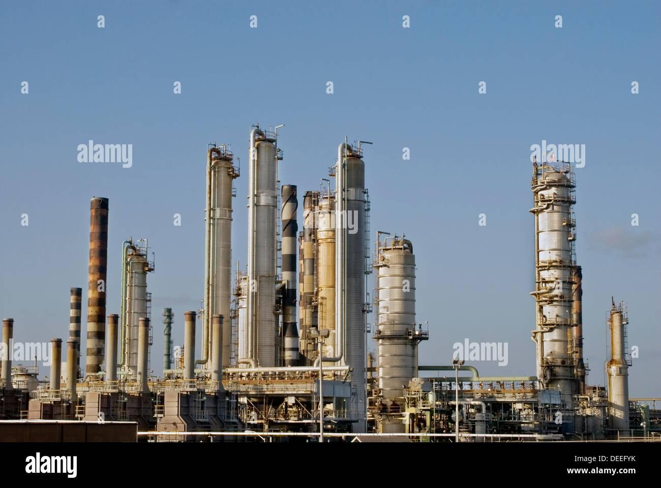 Hovensa Oil Refinery, St Croix, US Virgin Islands - Stock Image