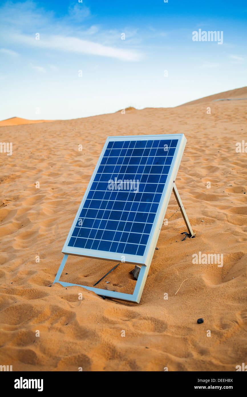 Solar power cell panel in the desert Stock Photo: 60557278 ...