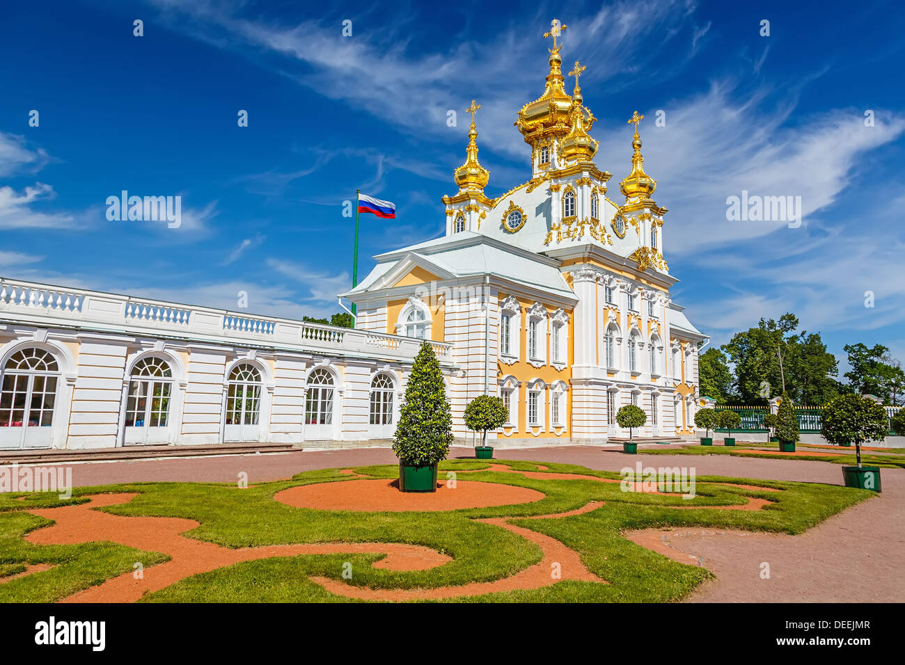 Church in Peterhof, St Petersburg - Stock Image
