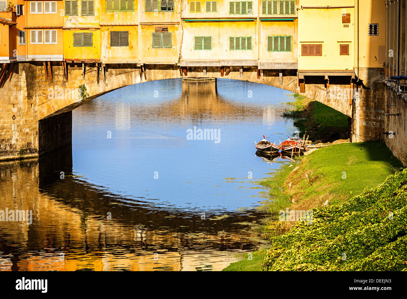 Ponte Vecchio in Florence - Stock Image