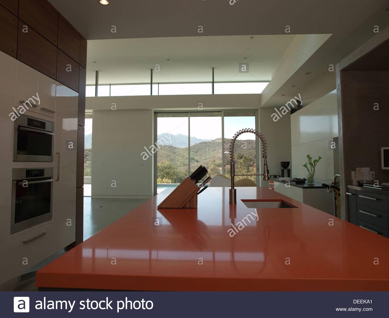 Interior of modern kitchen - Stock Image