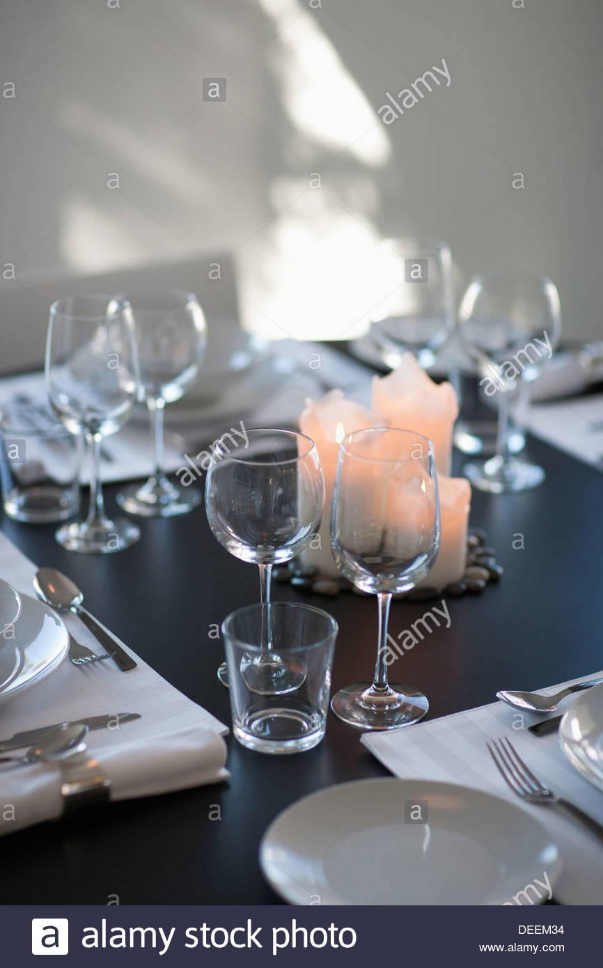 Interior of modern dining room - Stock Image