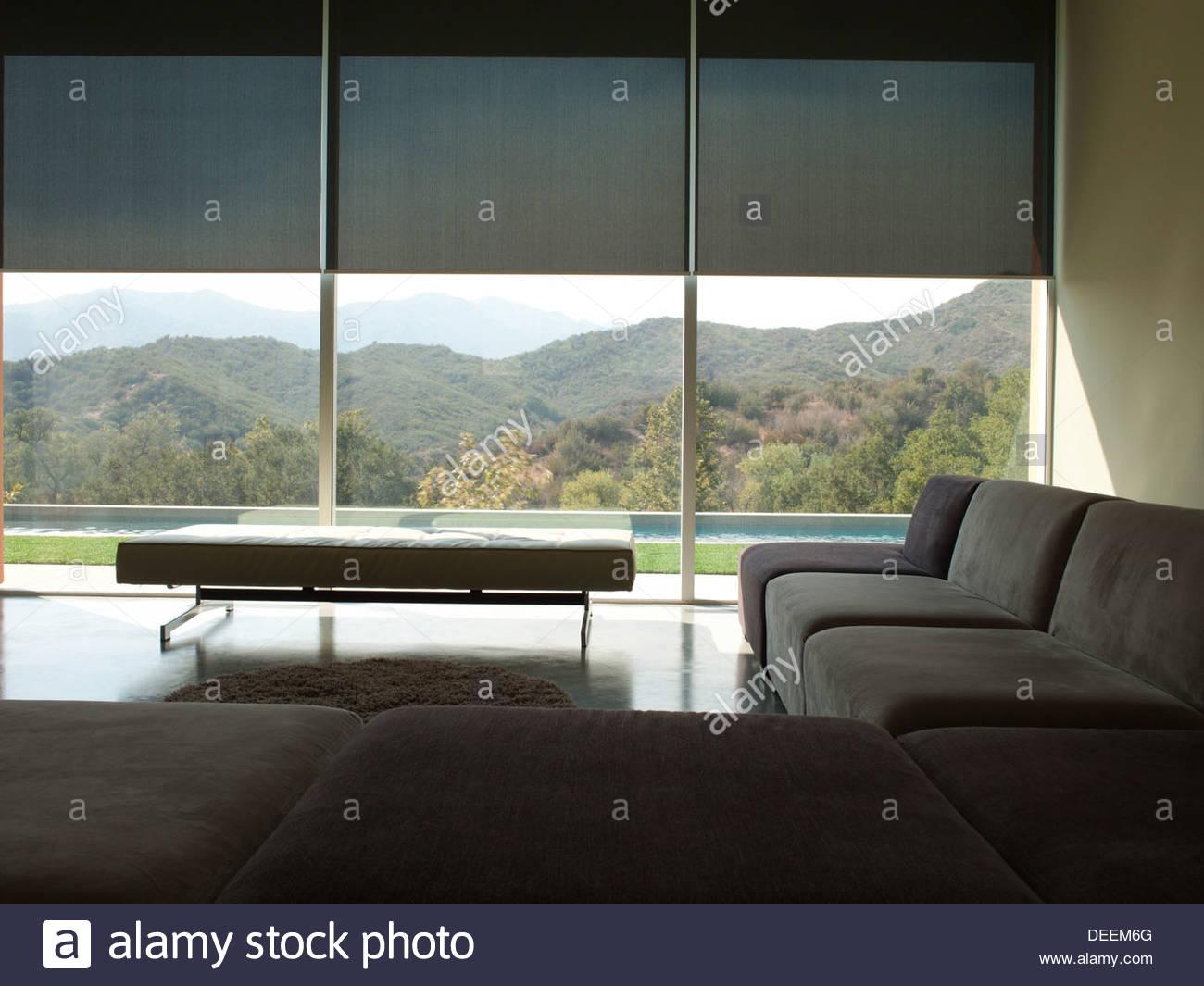 Interior of modern living room - Stock Image