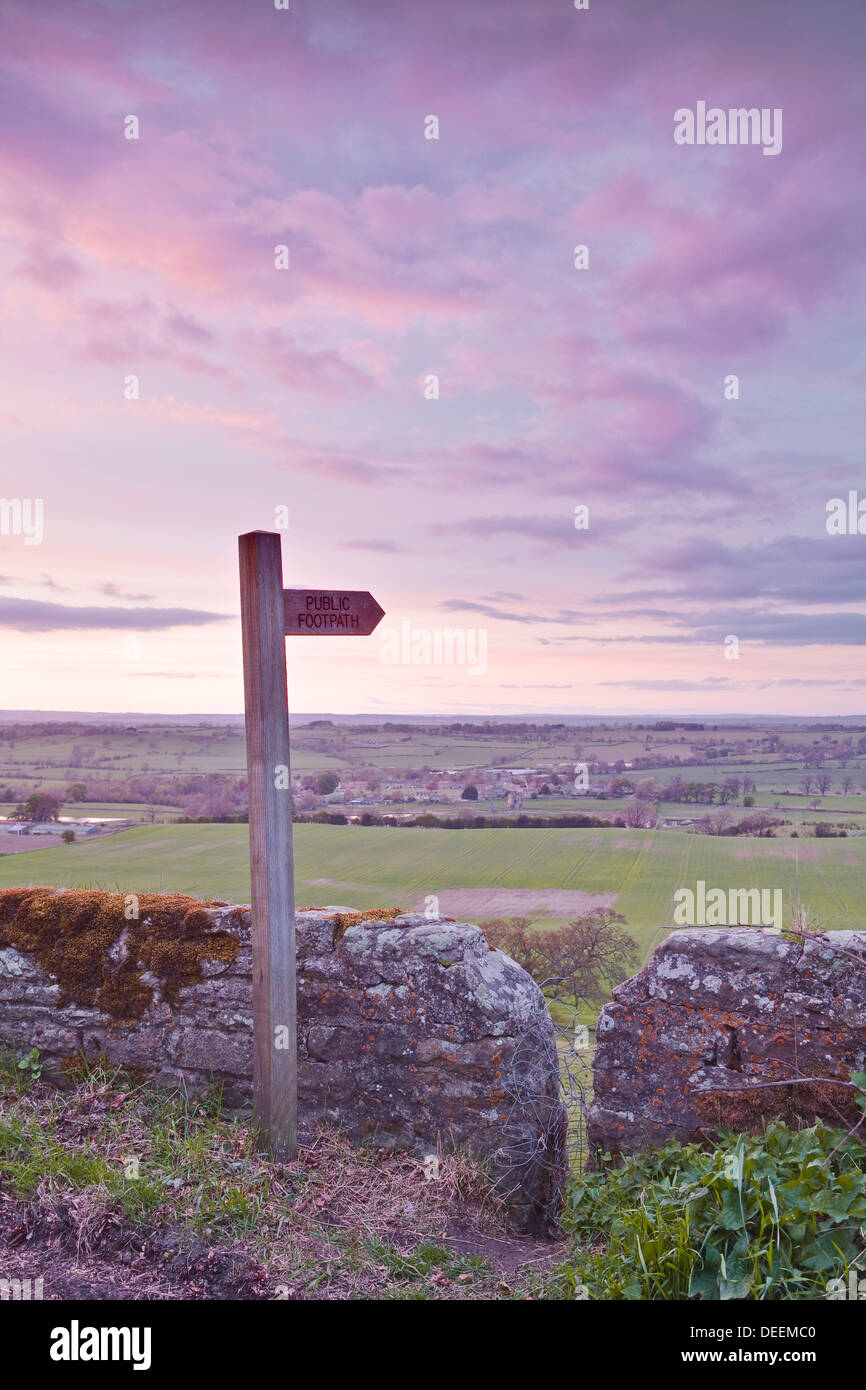 The North Yorkshire countryside from Kirby Hill, Yorkshire, England, United Kingdom, Europe - Stock Image