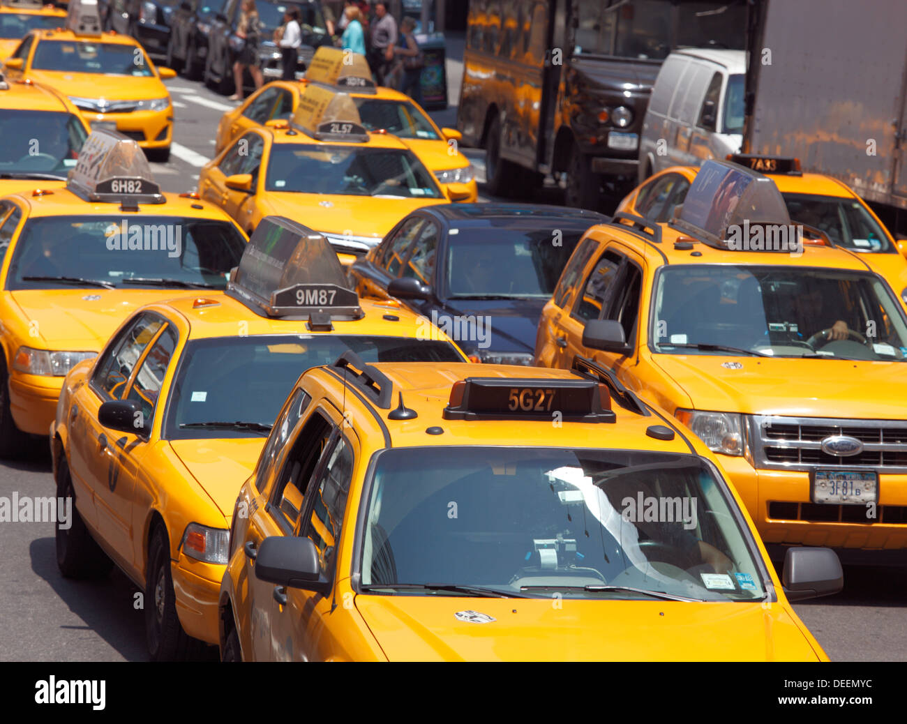 Taxi cabs in New York City, USA. - Stock Image