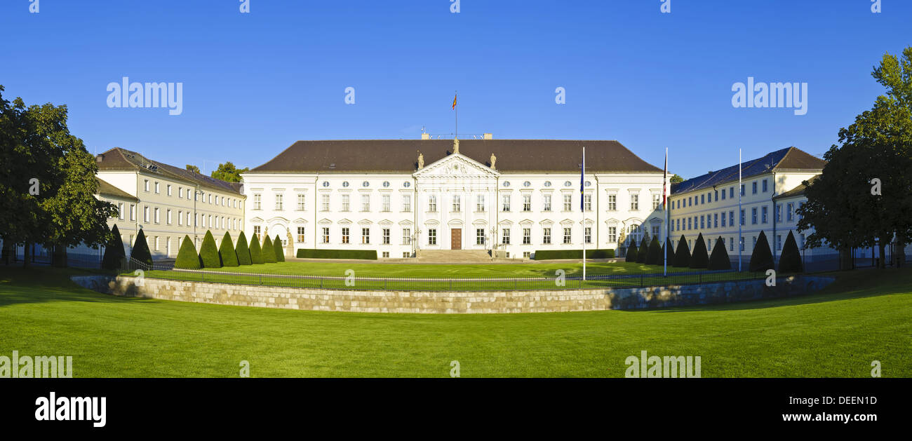 Beautiful panorama with bellevue palace in Berling, Germany Stock Photo