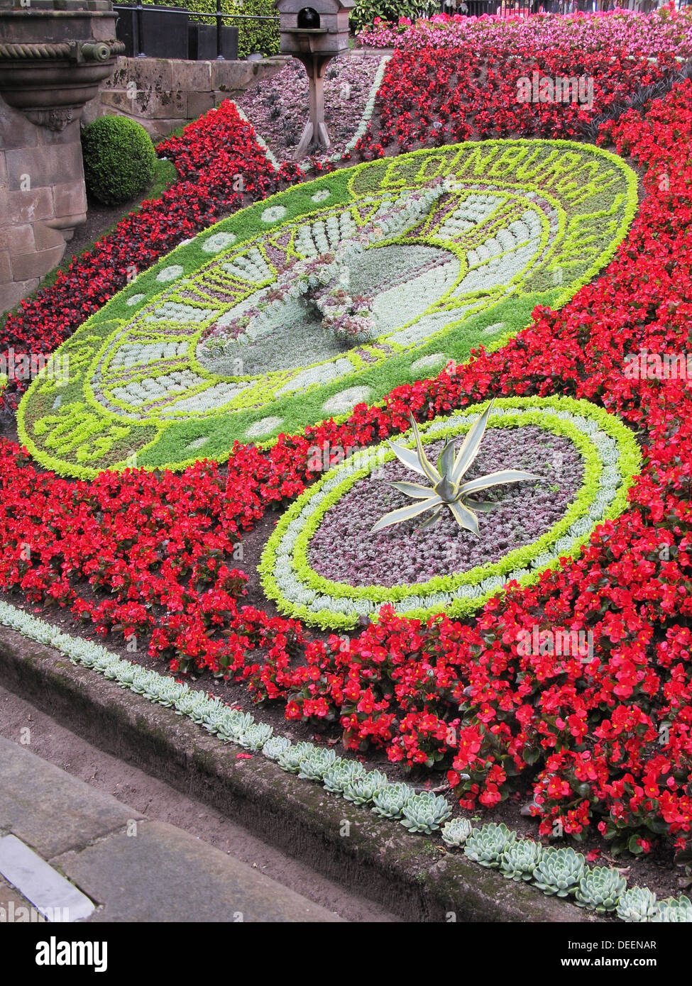 Floral Clock, Princes Street Gardens, Edinburgh, Scotland, UK - Stock Image