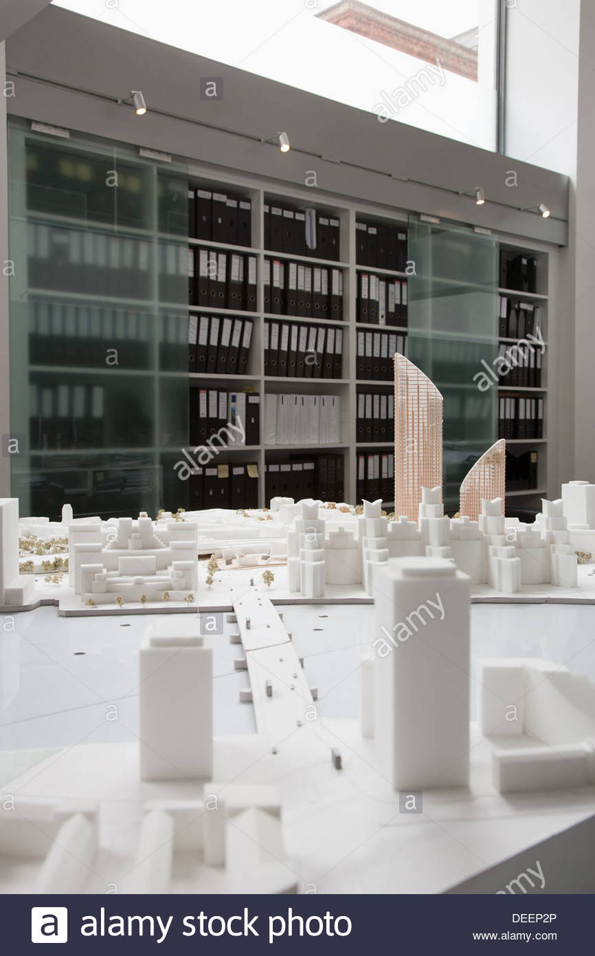 City model on table in office Stock Photo
