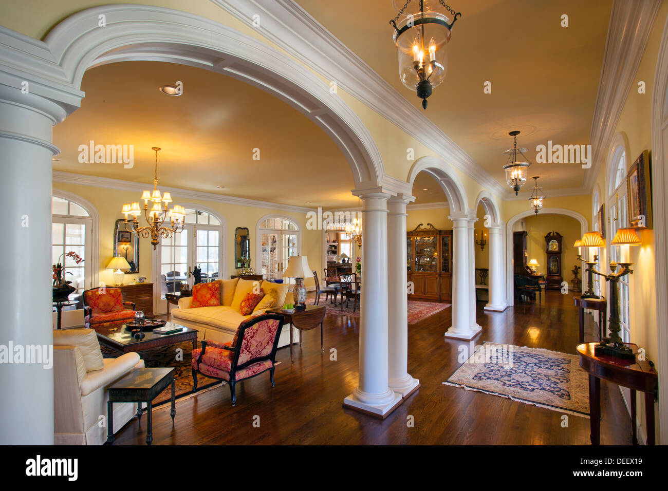 luxury home interior in nashville tennessee usa stock photo