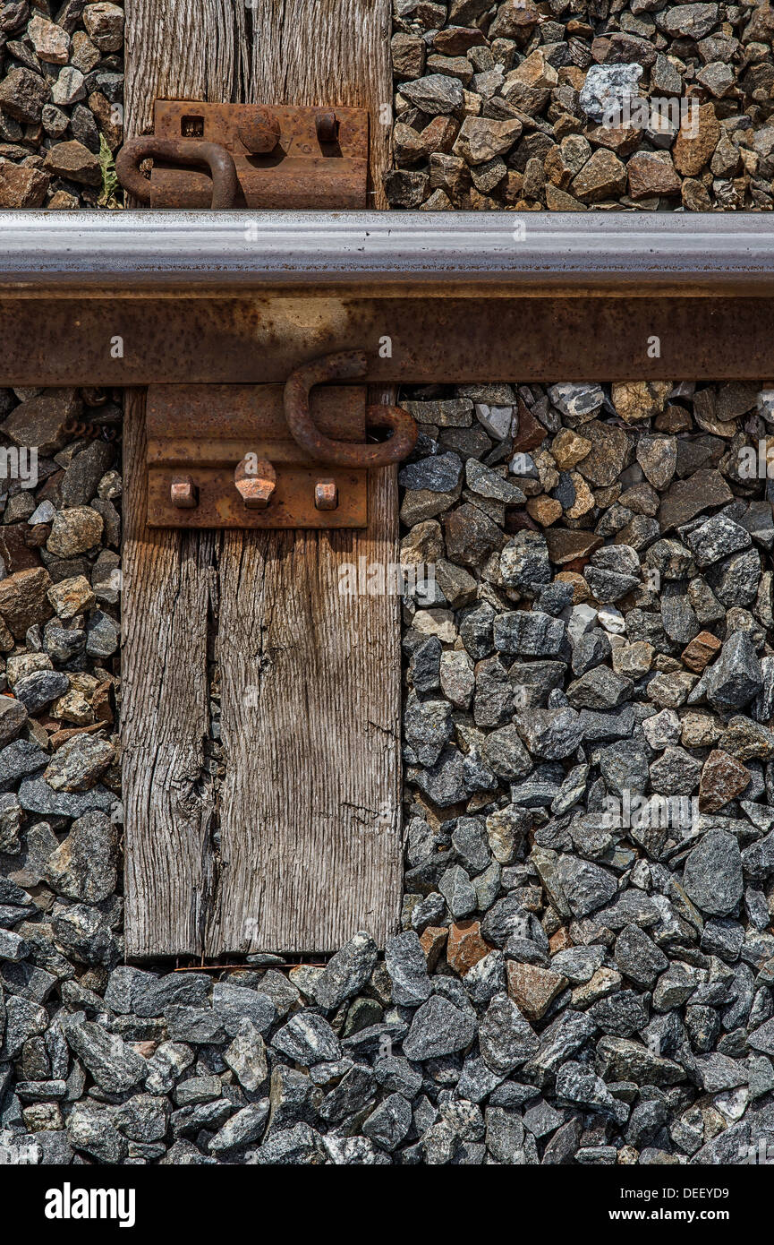 Railroad Track Detail - Stock Image