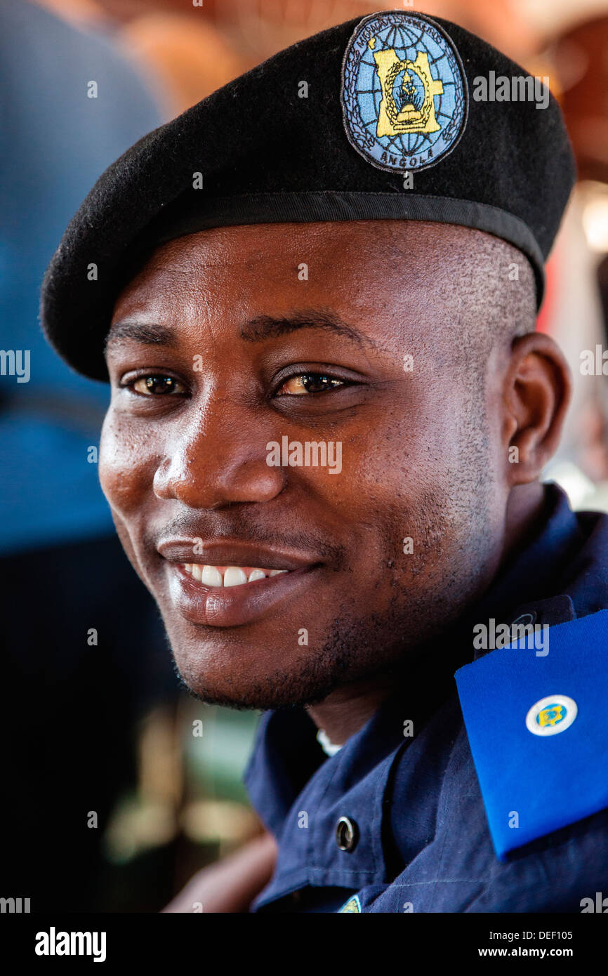 Africa, Angola, Lobito. Portrait of immigration official. - Stock Image