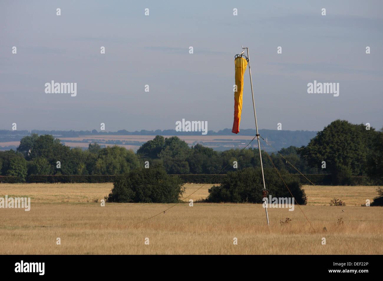 Wind Sock at Headcorn Areodrome, Kent - Stock Image