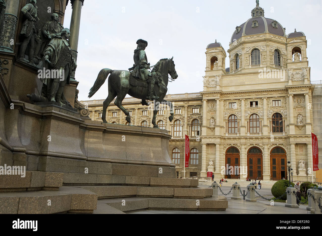 Kunsthistorisches Museum (Museum of Art History) at Maria-Theresien-Platz, Vienna. Austria Stock Photo