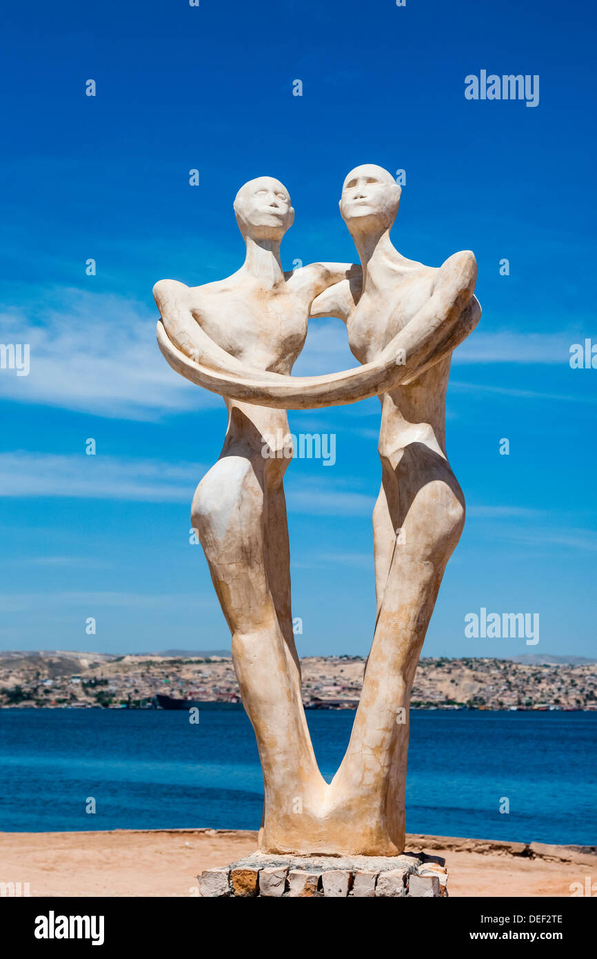 Africa, Angola, Lobito. Sculpture inaugurated in 2000 for the governor of Benguela. - Stock Image