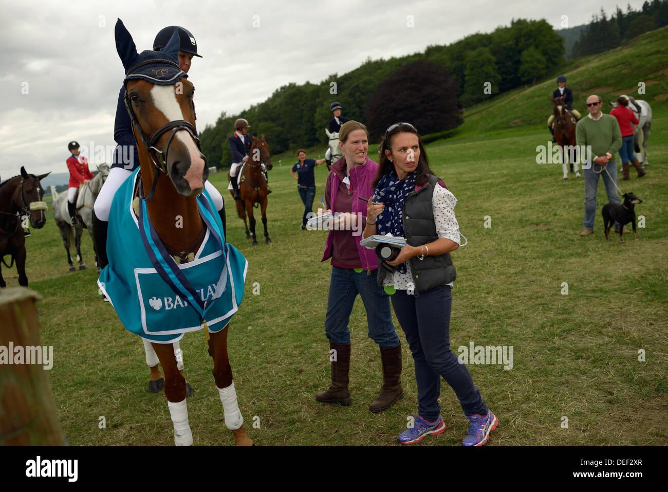 blair atholl horse trials perthshire scotland - Stock Image