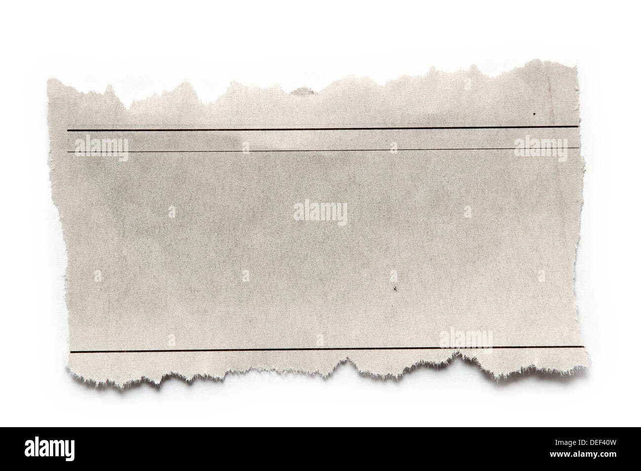 Piece of torn paper on plain background. Copy space - Stock Image