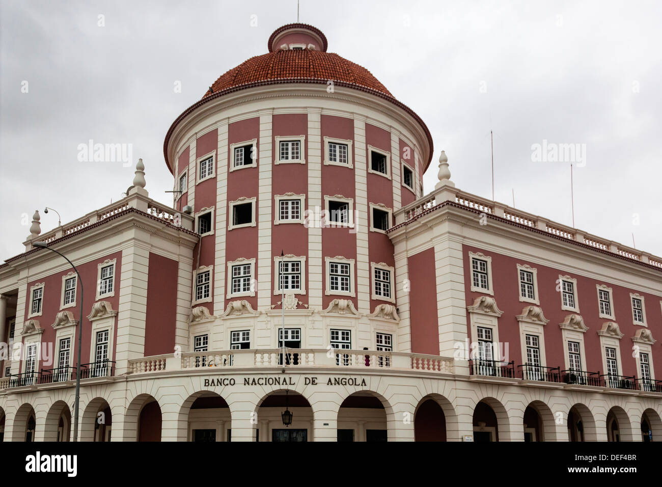 Africa, Angola, Luanda. National Bank of Angola. - Stock Image