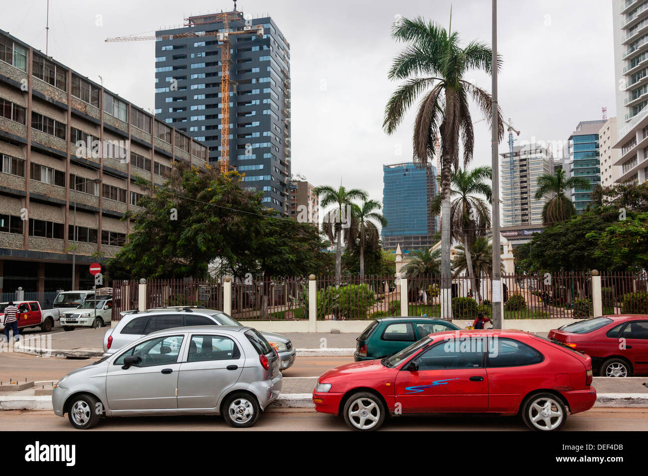 Africa, Angola, Luanda. Traffic in city center. - Stock Image