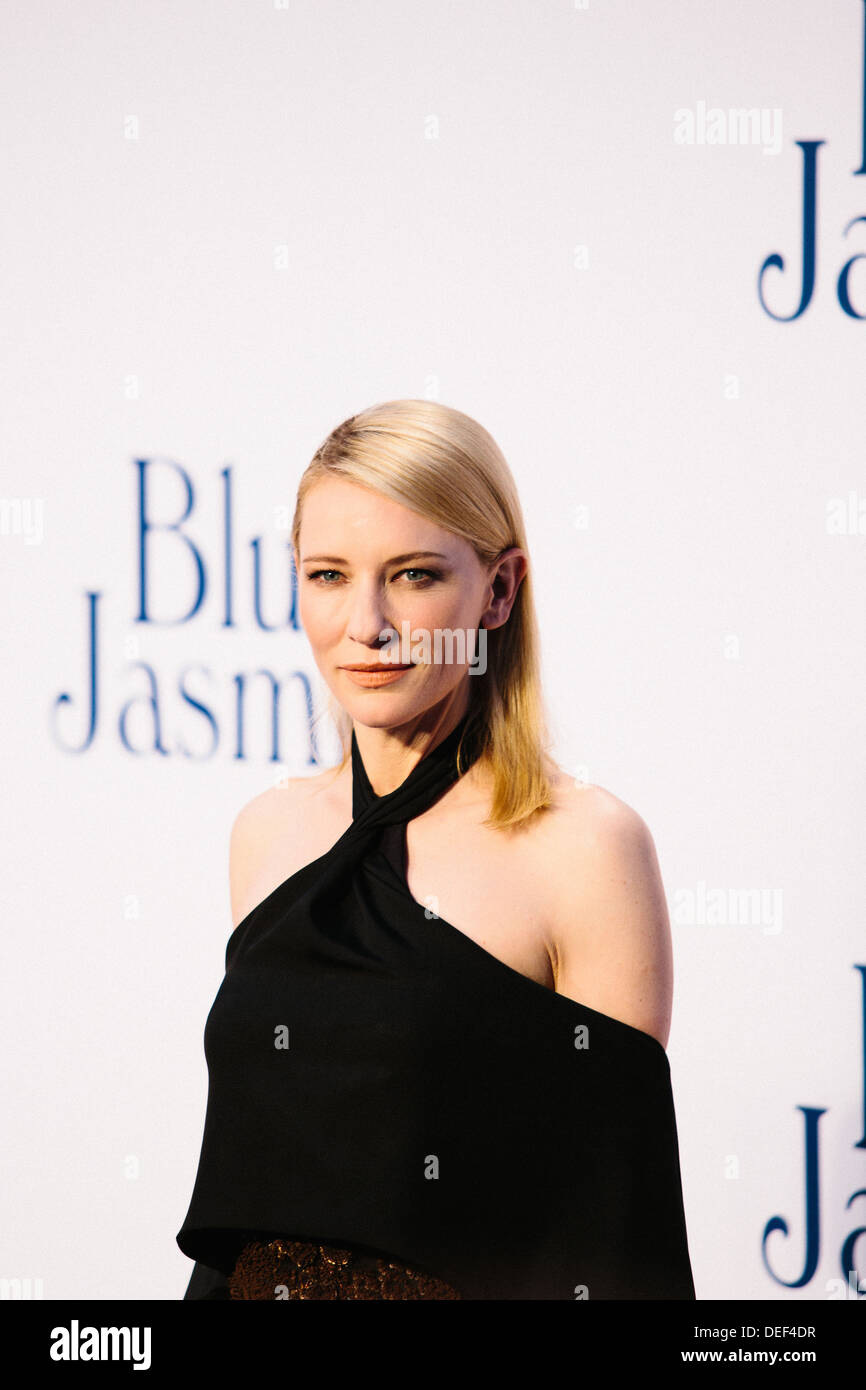 Cate Blanchett  'Blue Jasmine' - UK Film Premiere - Red Carpet Arrivals - Stock Image