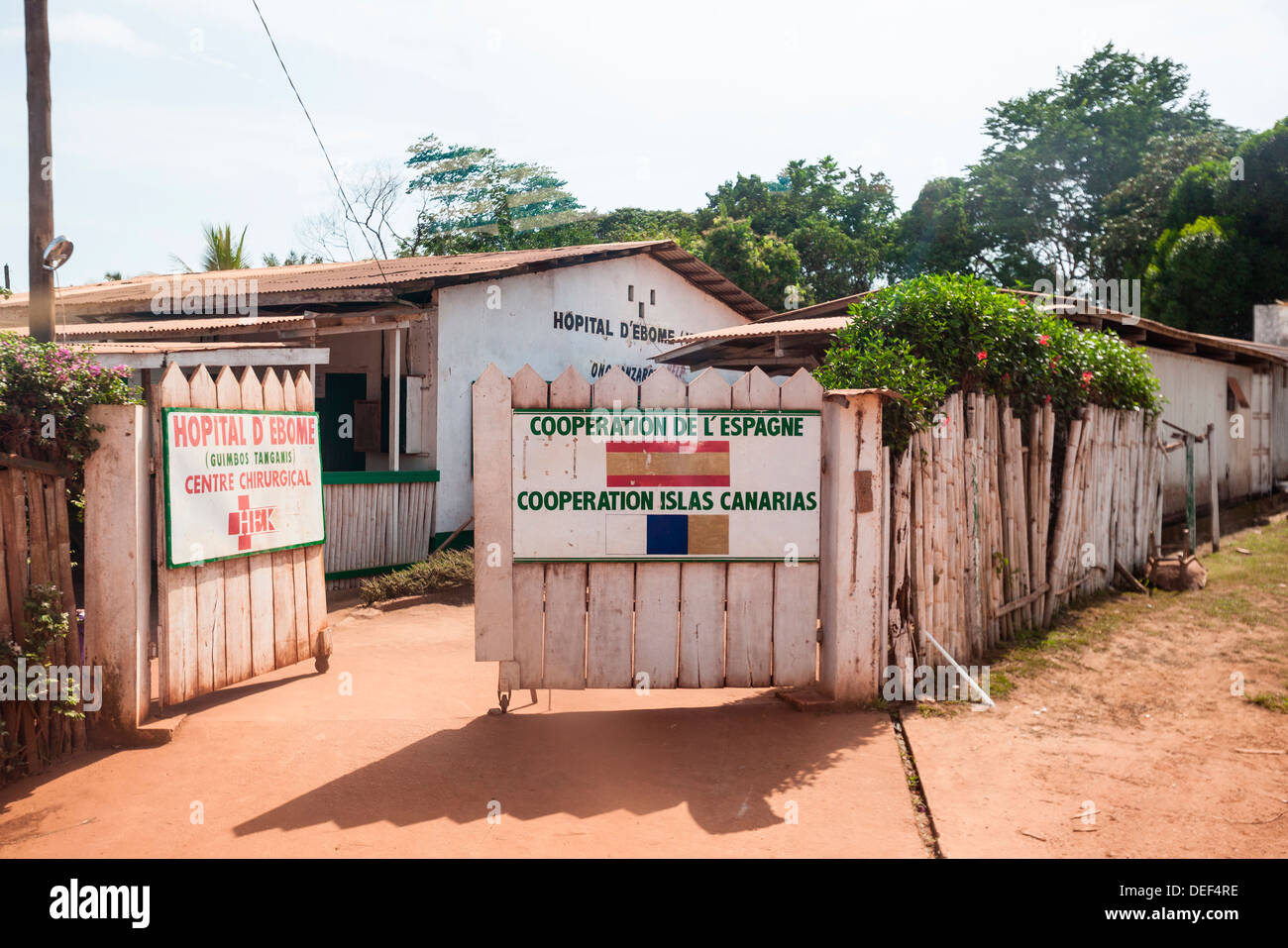 Africa, Cameroon, Kribi. Entrance to hospital. - Stock Image