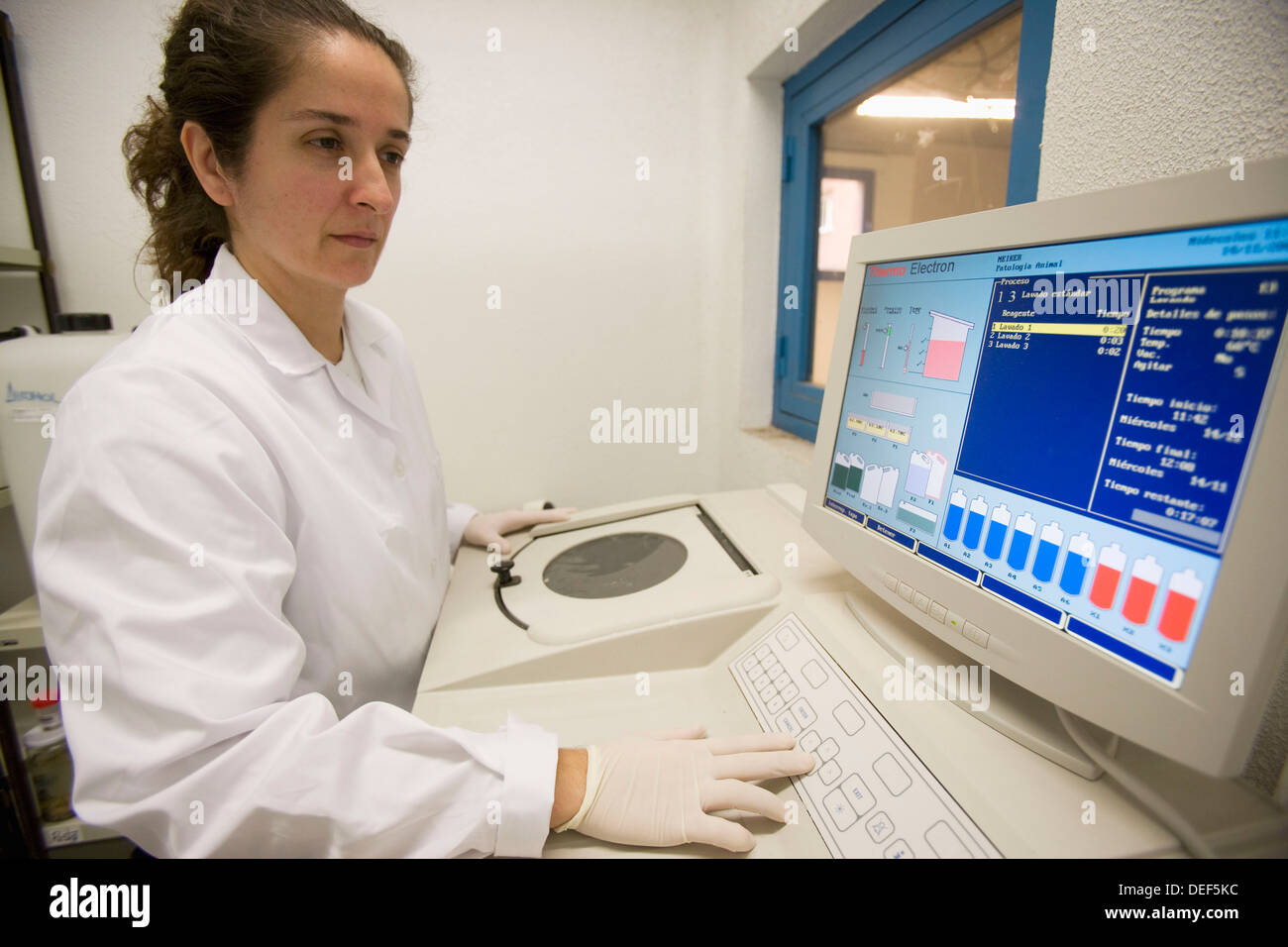Centrifuge, Laboratory of Pathological anatomy, Departamento de Producción y Sanidad Animal, Neiker Tecnalia, Instituto de - Stock Image