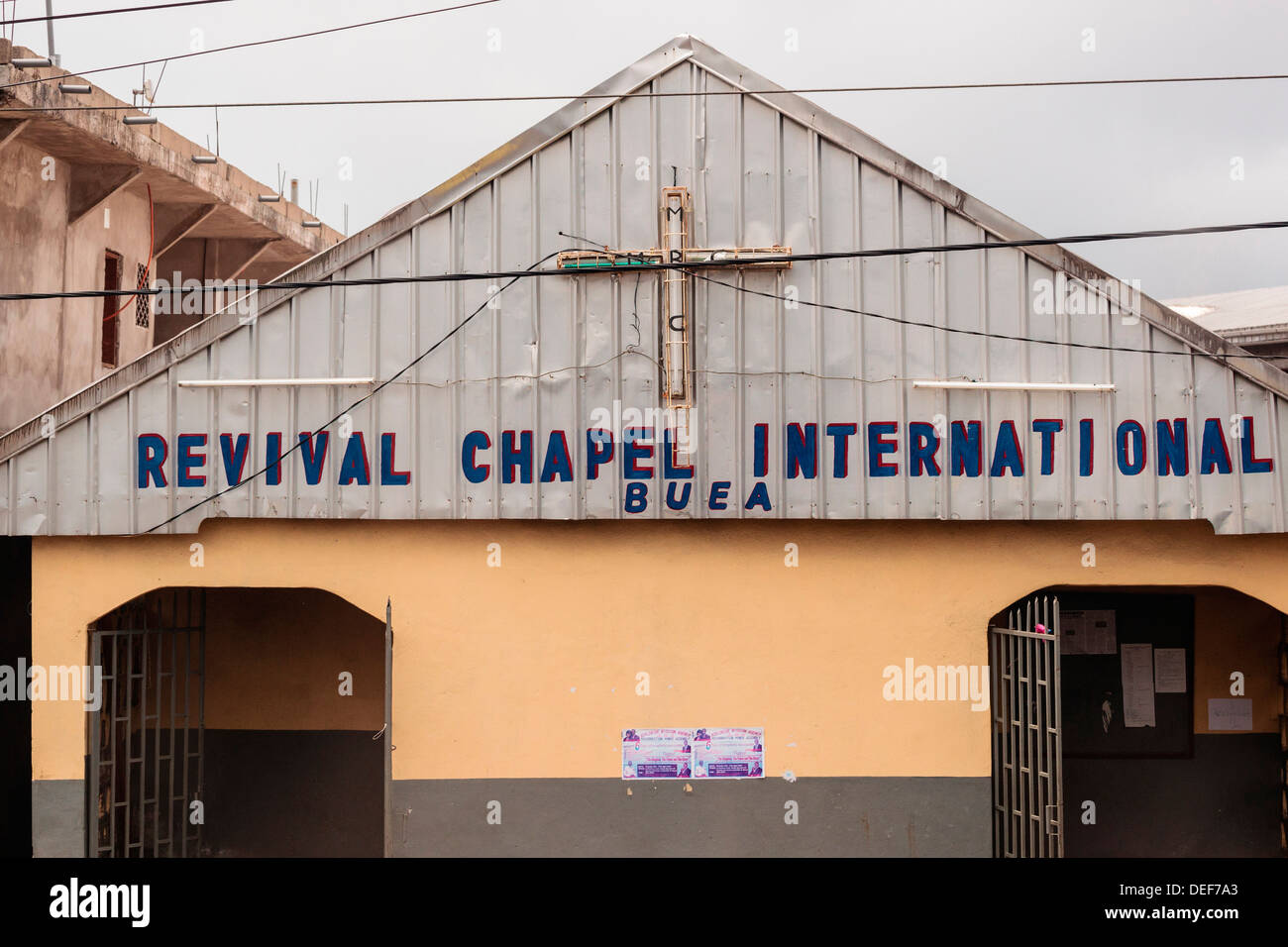 Africa, Cameroon, Buea. Revival Chapel International. - Stock Image