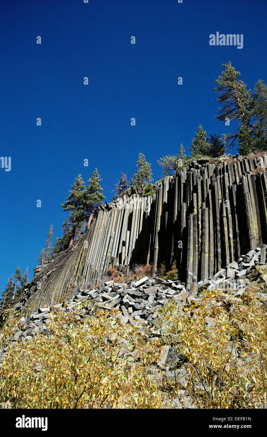 Devil´s Postpile National Monument. California. USA - Stock Image