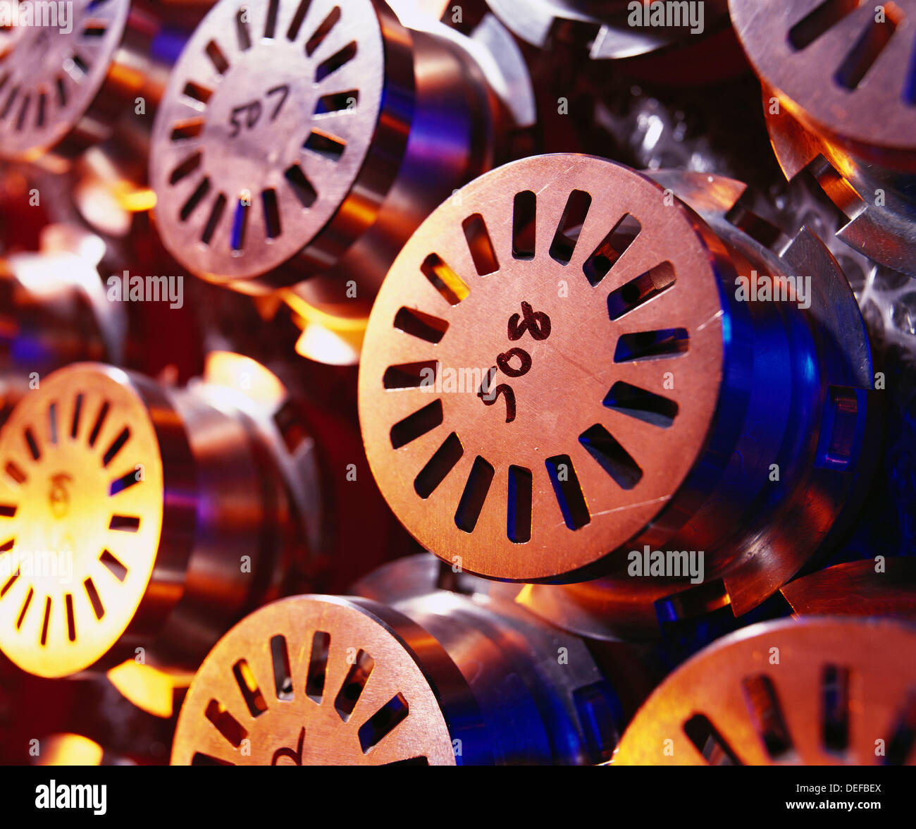 Gas turbine, power parts in warehouse, graphic shots of engine parts