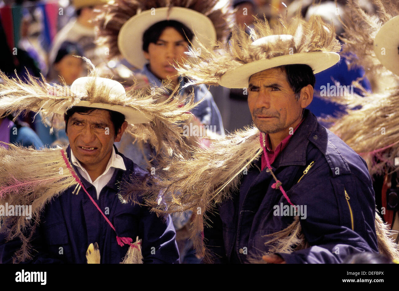 Samilantes (in plumed dresses) at the procession. Casabindo. Jujuy  province. Argentina 81e528b2287