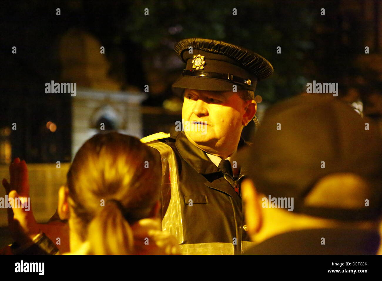 39cef95695 Protesters Outside Leinster House In Dublin Stock Photos ...