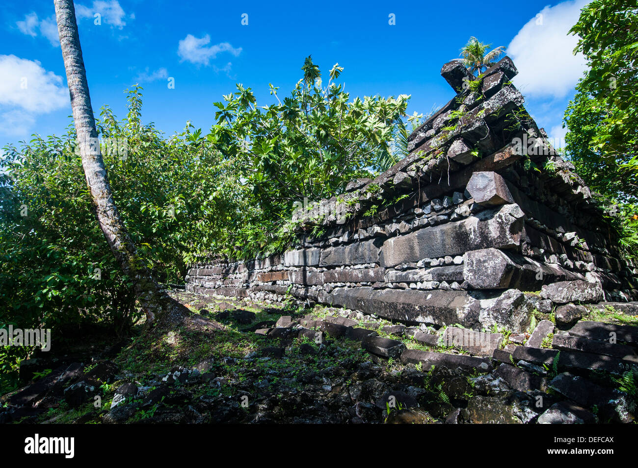 Ruined city of Nan Madol, Pohnpei (Ponape), Federated States of Micronesia, Caroline Islands, Central Pacific, Pacific Stock Photo
