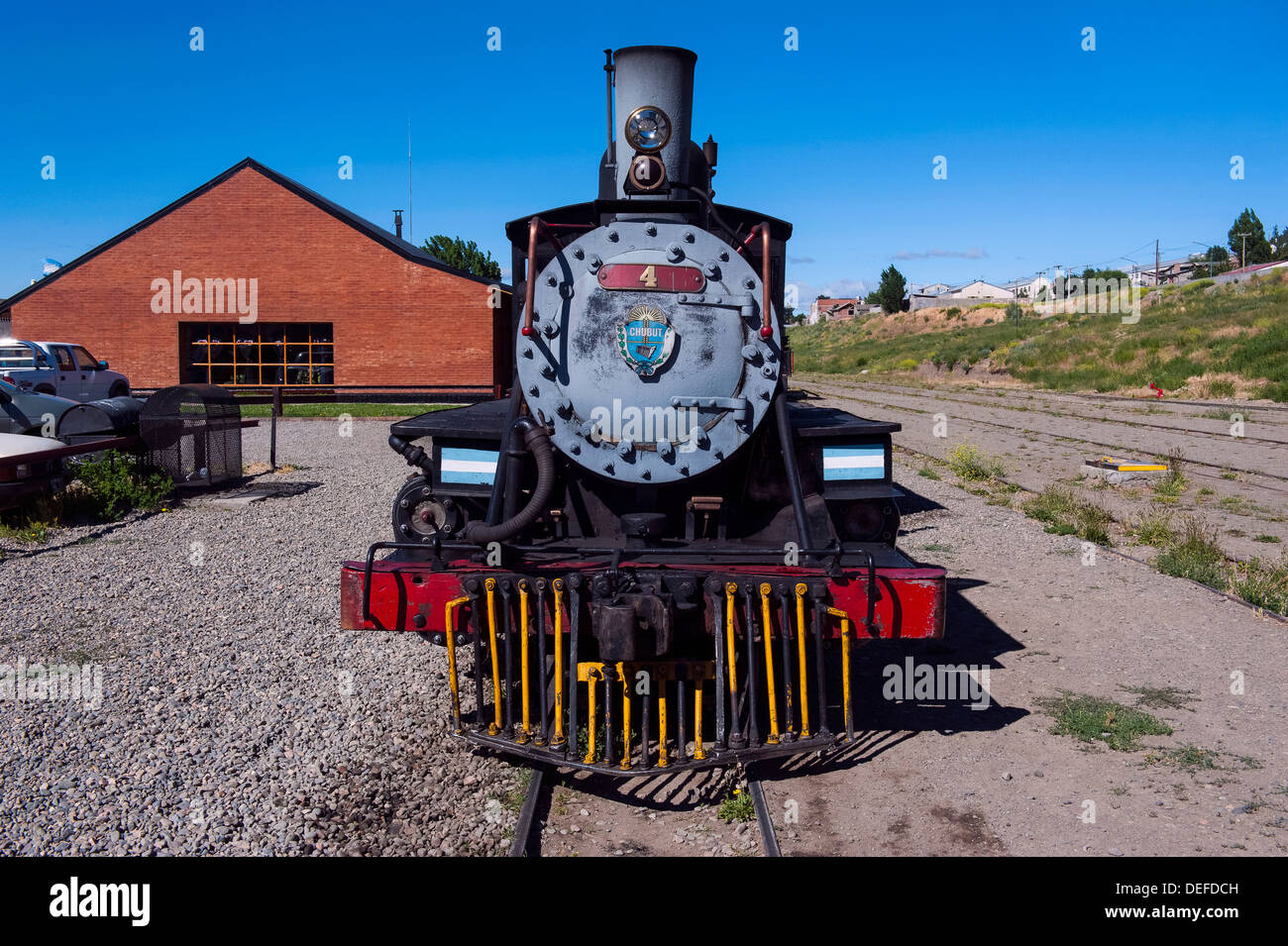 La Trochita, the Old Patagonian Express between Esquel and El Maiten in Chubut Province, Patagonia, Argentina, South Stock Photo