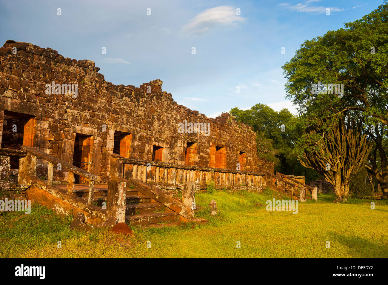 The Mission of San Ignacio Mini, UNESCO World Heritage Site, Argentina, South America - Stock Image